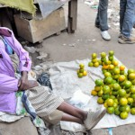 Lemon fruit seller